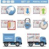 Le icone postali di vettore hanno messo 10 Fotografie Stock