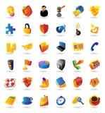 Le icone realistiche hanno impostato per il commercio e le finanze Fotografie Stock Libere da Diritti