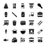 Le icone solide del venditore imballano illustrazione di stock