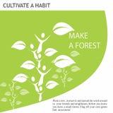 Le idee amichevoli di Eco fanno una foresta Immagini Stock Libere da Diritti