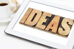 Le idee esprimono nel tipo di legno Fotografie Stock Libere da Diritti