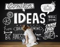 Le idee ispirano il concetto di motivazione di pensiero creativo fotografia stock libera da diritti