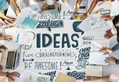 Le idee ispirano il concetto di motivazione di pensiero creativo Fotografie Stock Libere da Diritti