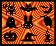 Le illustrazioni di helloween le icone Fotografia Stock Libera da Diritti