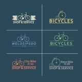 Le immagini piane semplici di vettore bike sui precedenti Fotografia Stock Libera da Diritti