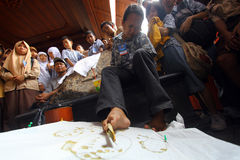 Le inabilità fanno il batik fotografie stock