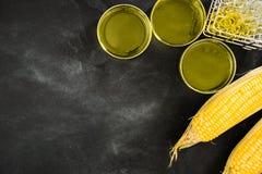 Le informazioni dell'alimento del gmo di studio hanno inventato la scienza Immagine Stock