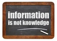 Le informazioni non sono citazione di conoscenza immagine stock libera da diritti