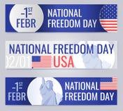 Le insegne di web hanno messo per il giorno nazionale U.S.A. di libertà Fotografie Stock Libere da Diritti