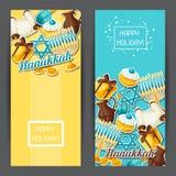 Le insegne ebree della celebrazione di Chanukah con l'autoadesivo di festa obietta