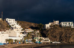 Le isole Canarie di Fuerteventura del villaggio di Las Playitas Immagini Stock Libere da Diritti