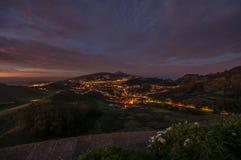 Le isole Canarie di notte di Teide fotografia stock libera da diritti