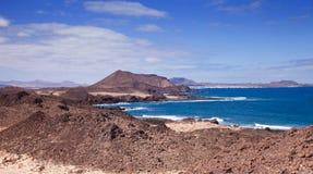 Le Isole Canarie, piccola isola Isla de Lobos Fotografie Stock Libere da Diritti