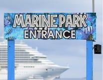 Le Isole Cayman Marine Park Entrance Immagini Stock Libere da Diritti