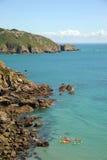 Le isole del canale della costa di Guernsey immagini stock libere da diritti