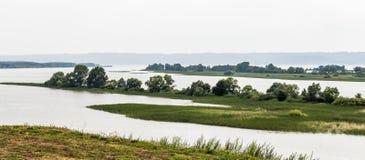 Le isole del fiume Volga Fotografie Stock Libere da Diritti