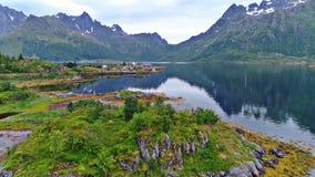 Le isole di Lofoten è un arcipelago nella contea di Nordland, Norvegia immagini stock libere da diritti