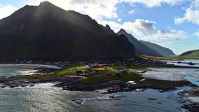 Le isole di Lofoten è un arcipelago nella contea di Nordland, Norvegia immagini stock