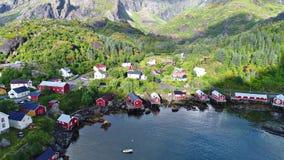 Le isole di Lofoten è un arcipelago nella contea di Nordland, Norvegia fotografie stock