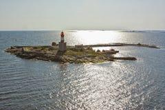 Le isole si avvicinano ad Helsinki in Finlandia Fotografia Stock Libera da Diritti