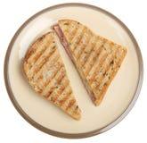 Le jambon et le fromage ont grillé le sandwich images libres de droits