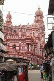 Le Jamiul Alfar Masjid ou généralement connu comme mosquée rouge Pettah - à Colombo Photo stock
