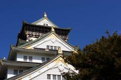 Le Japon : Château d'Osaka Images libres de droits