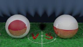 Le Japon contre la Pologne Coupe du monde 2018 de la FIFA Image 3D originale Photos libres de droits