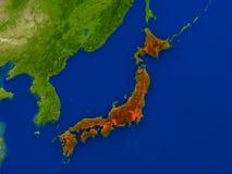 Le Japon de l'espace en rouge Image stock