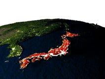 Le Japon de l'espace la nuit Photographie stock libre de droits