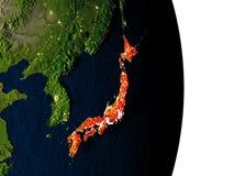 Le Japon de l'espace pendant le crépuscule Image stock