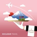 Le Japon, destination illustration libre de droits