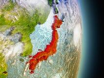 Le Japon en rouge de l'espace Photo libre de droits
