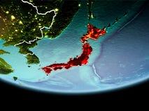 Le Japon en rouge le soir Image stock