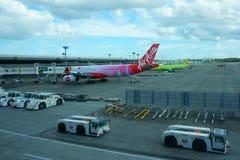 Le JAPON - 9 septembre 2018 : INTERNATIONAL A de NARITA d'arrivée de vol photographie stock libre de droits