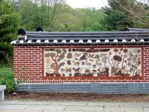 Le jardin coréen de Vienne Bell a décoré le mur 2016 images libres de droits