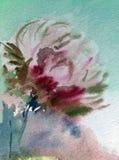 Le jardin d'agrément magique floral de modèle d'abrégé sur fond d'art d'aquarelle épousant le lavage humide texturisé a brouillé  Photos libres de droits