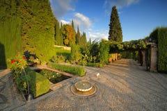 Le jardin d'Alhambra, Grenade, Espagne photo stock