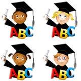 Le jardin d'enfants badine des diplômés Photos libres de droits
