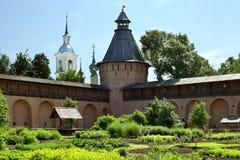 Le jardin d'herbes aromatiques dans le monastère Photos libres de droits