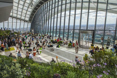 Le jardin de ciel à la rue de 20 Fenchurch à Londres Image libre de droits