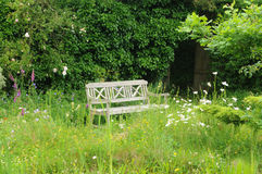 Le Jardin de L Atelier in Perros Guirec Stockbild