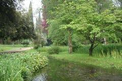 Le jardin de Ninfa Photographie stock
