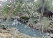 Le jardin de piscine dans le temple de wuhouci, adobe RVB photos stock