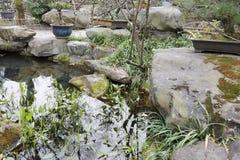 Le jardin de piscine dans le temple de wuhouci, adobe RVB photo stock