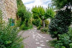 Le jardin de poètes à Morella Image libre de droits