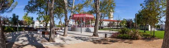 Le jardin de Republica dans Santarem Photos stock