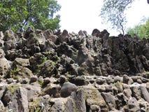 Le jardin de roche de Chandigarh, Inde Photographie stock