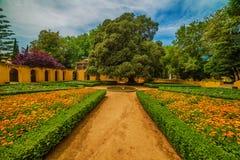 : le jardin du couvent et du palais royaux du palais de Mafra, baroque et néoclassique, monastère photographie stock