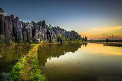 Le jardin en pierre Rammang-rammang Photo stock